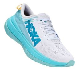 HOKA W CARBON X WHITE/ANGEL BLUE