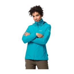 JACK WOLFSKIN STORMY POINT JACKET AQUA