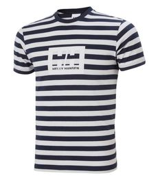 HELLY HANSEN BOX T-SHIRT NAVY STRIPE