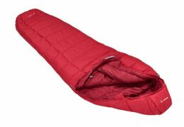 VAUDE SIOUX 400 SYN DARK INDIAN RED LEFT SLEEPING BAG