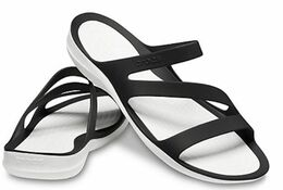 CROCS SWIFTWATER SANDAL BLACK/WHITE
